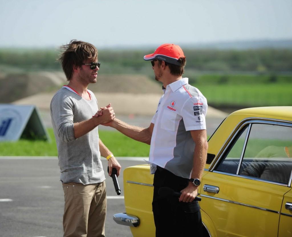 Jenson Button és Sebestyén Balázs
