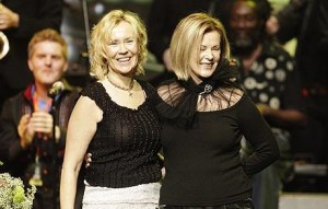 Agnetha Faltskog and Anni-Frid Lyngstad of Abba receive a lifetime achievement award. Photo: BIG PICTURES