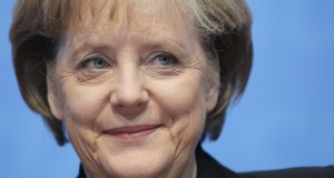 german chancellor merkel smiles during a news conference after a christian democratic union's (cdu) party leader meeting in berl