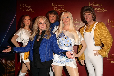 Welsh singer Bonnie Tyler unveils wax figures of the members of the Swedish pop group ABBA at Madame Tussauds on April 20, 2013 in Berlin, Germany. *** Local Caption *** Bonnie Tyler