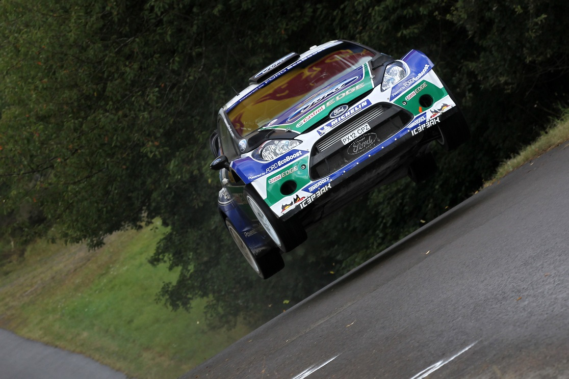 MOTORSPORT - WORLD RALLY CHAMPIONSHIP 2012 - GERMANY RALLY / RALLYE D'ALLEMAGNE - TRIER (GER) - 23 TO  26/08/2012 - PHOTO: FRANCOIS BAUDIN / DPPI -  03LATVALA Jari-Matti - ANTTILA Miikka / FORD FIESTA - WRC / Action