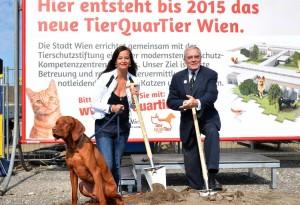 Sima/Havranek: Spatenstich f¸r das TierQuarTier Wien