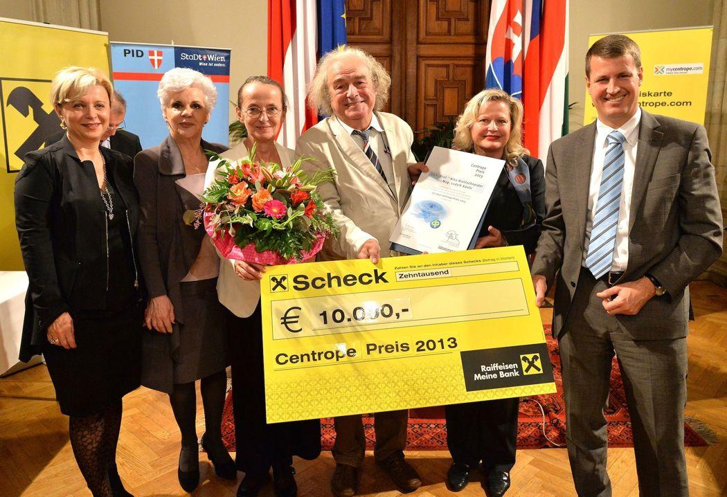 """""""CENTROPE-Preis 2013"""" an Brettschneider und Kavin vom Theater Brett"""
