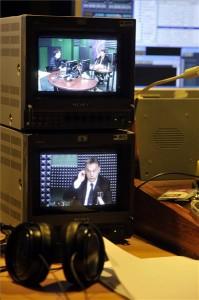 Orbán Viktor miniszterelnök interjút ad a Kossuth Rádió 180 perc című műsorában a Magyar Rádió stúdiójában 2014. január 17-én. MTI Fotó: Koszticsák Szilárd