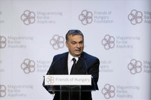 Orbán Viktor miniszterelnök előadást tart a Magyarország Barátai Alapítvány konferenciáján a Budapest Music Centerben 2014. január 20-án. MTI Fotó: Koszticsák Szilárd