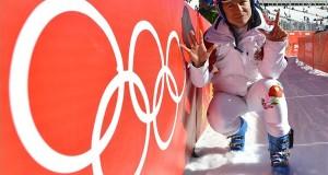 Krasznaja Poljana, 2014. február 12. Miklós Edit a 2014-es szocsi téli olimpia alpesi-síversenyei női lesiklásának döntője után a Krasznaja Poljana-i Roza Hutor Síközpontban 2014. február 12-én. A három éve magyar színekben versenyző, erdélyi születésű Miklós Edit nagyszerű teljesítménnyel, minden idők legjobb magyar alpesi sí eredményét elérve a hetedik helyen végzett. MTI Fotó: Illyés Tibor