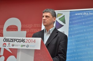 Gréczy Zsolt, a Demokratikus Koalíció szóvivője  Fotó: Juhász Melinda