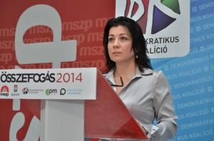 Budai Bernadett MSZP-szóvivő  Fotó: Juhász Melinda