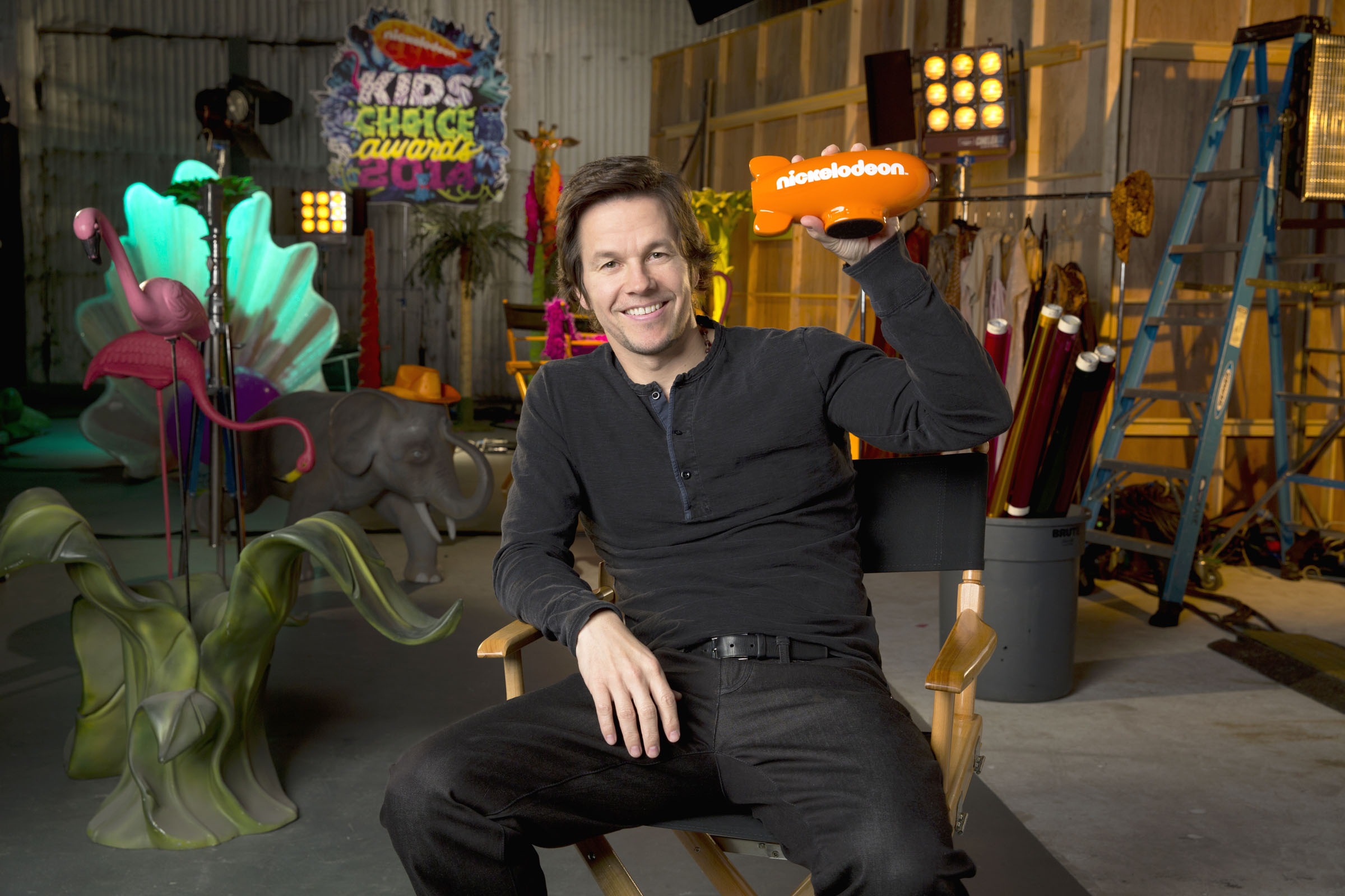 Mark Wahlberg, host of Nickelodeon's 27th Annual Kids' Choice Awards. Photo Credit: Sam Jones/Nickelodeon ©2014 Viacom International Inc., All Rights Reserved