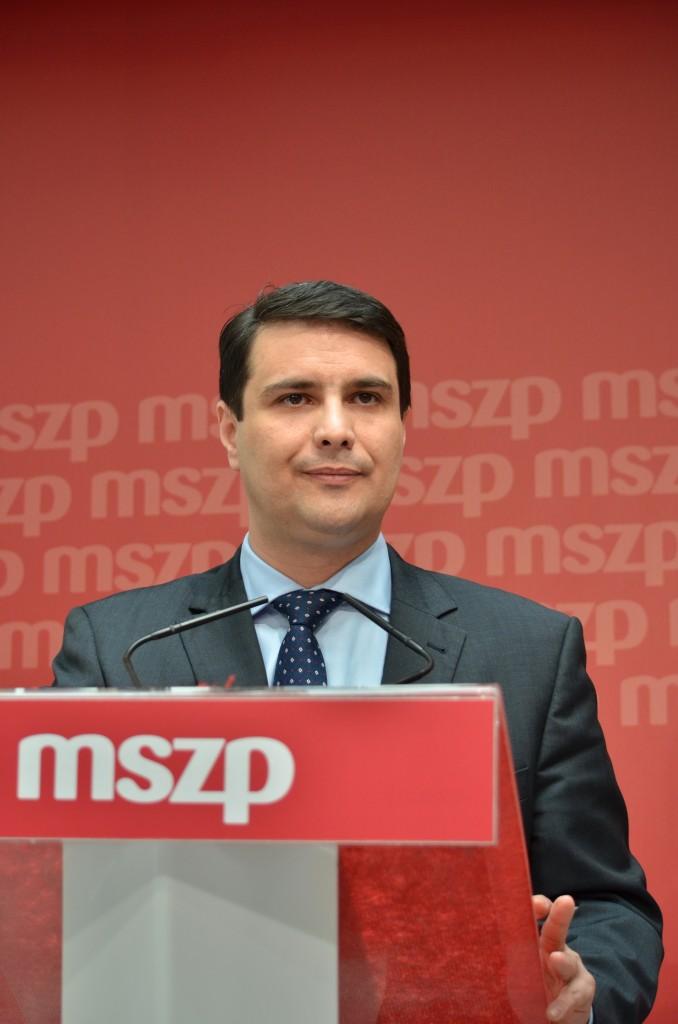 Mesterházy Attila, a baloldali összefogás pártjainak miniszterelnök-jelöltje Fotó: Juhász Melinda