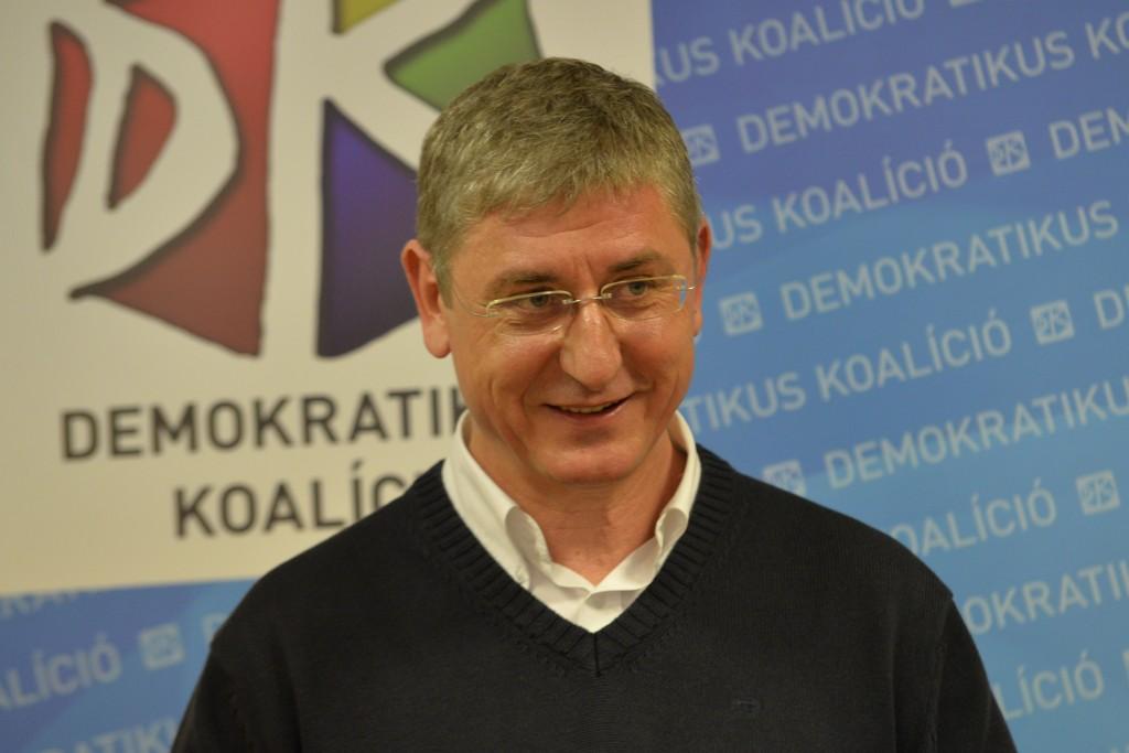 Gyurcsány Ferenc a Demokratikus Koalíció elnöke  Fotó: Dóka Attila