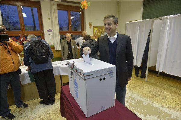 Bajnai Gordon, az Együtt-PM szövetség vezetője leadja szavazatát Budapesten, a Virányos Általános Iskolában kialakított szavazókörben az országgyűlési képviselő-választáson 2014. április 6-án. MTI Fotó: Máthé Zoltán