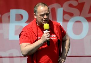 Szanyi Tibor, az MSZP EP-listavezetője Fotó: Juhász Melinda