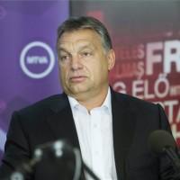 Orbán Viktor miniszterelnök interjút ad a Kossuth Rádió 180 perc című műsorában a Magyar Rádió stúdiójában 2014. július 18-án. MTI Fotó: Koszticsák Szilárd
