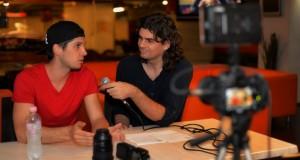 Interjú közben