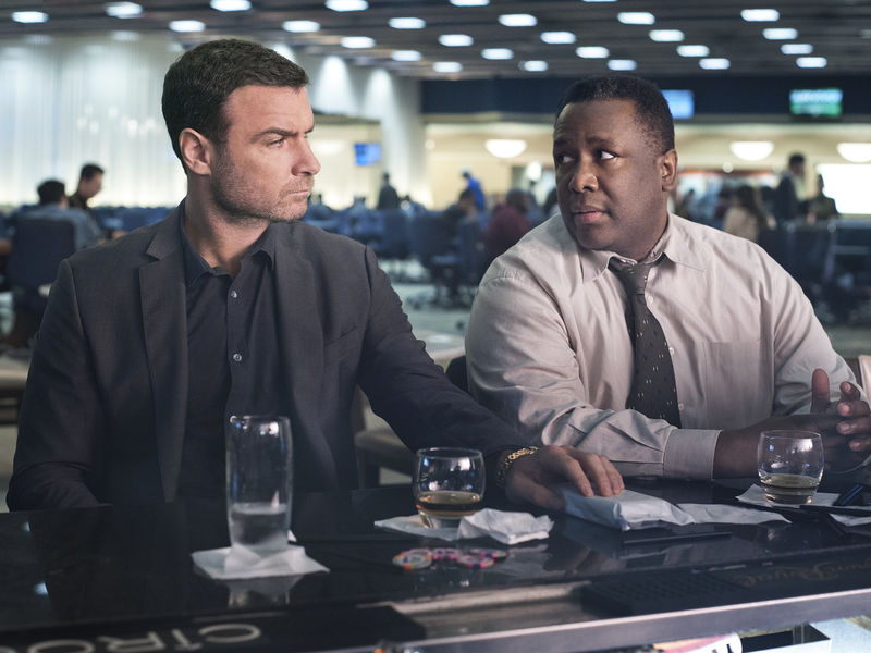 Liev Schreiber as Ray Donovan and Wendell Pierce as Mr. Keith in Ray Donovan (Season 2, Episode 2) - Photo: Suzanne Tenner/SHOWTIME - Photo ID: RayDonovan_202_0077.R