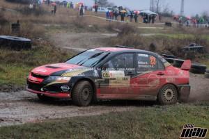 Maxx Race Team – 18. Quaestor Mikulás Rallye, 2014. december 6-7. Kiss Viktor – Velenczei Ádám, Mitsubishi Lancer Evo IX R4