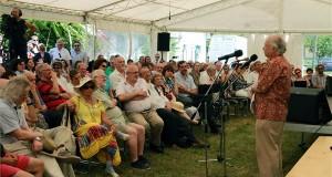 Farkasházy Tivadar házigazda megnyitja a XIV. szárszói találkozót 2015. június 13-án. MTI Fotó: Nagy Lajos