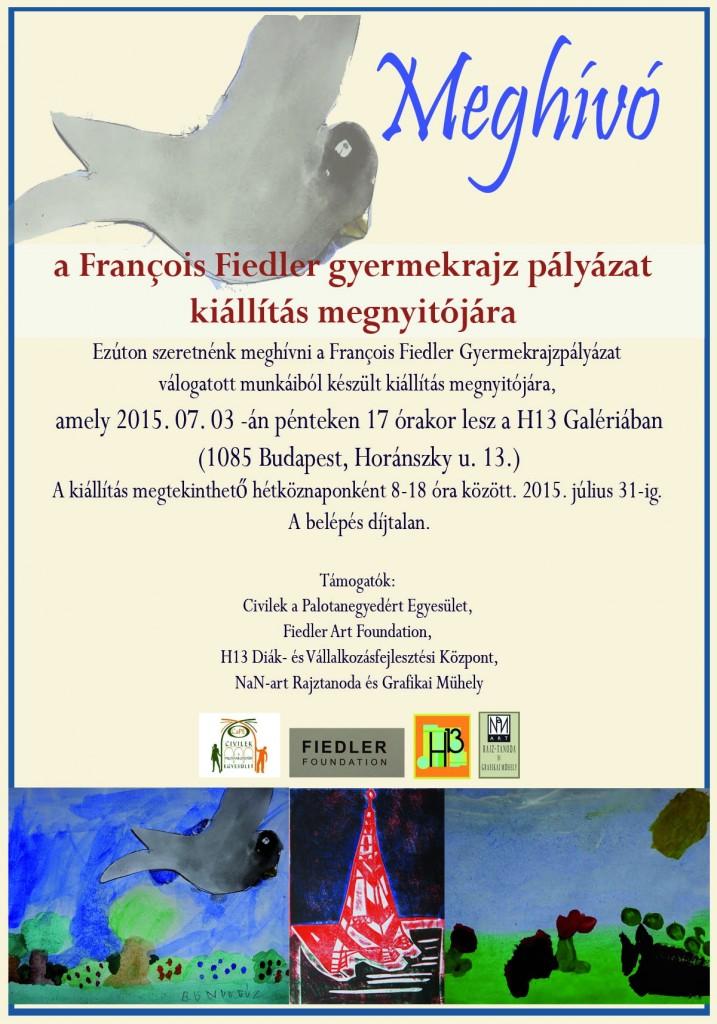 Meghívó 2015 évi Francois Fiedler gyermekrajz kiállítás megnyitójára
