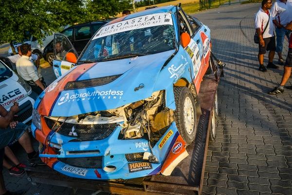 Maxx Race Team – 22. Veszprém Rallye, 2015. július 10-12. Strider Zoltán – Koch Péter, Mitsubishi Lancer Evo IX