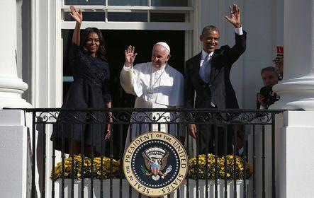 OBAMA, Barack; FERENC pápa; OBAMA, Michelle