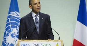 Barack Obama amerikai elnök felszólal az ENSZ 21. klímakonferenciáján a Párizs melletti Le Bourget-ban 2015. november 30-án. MTI Fotó: Koszticsák Szilárd