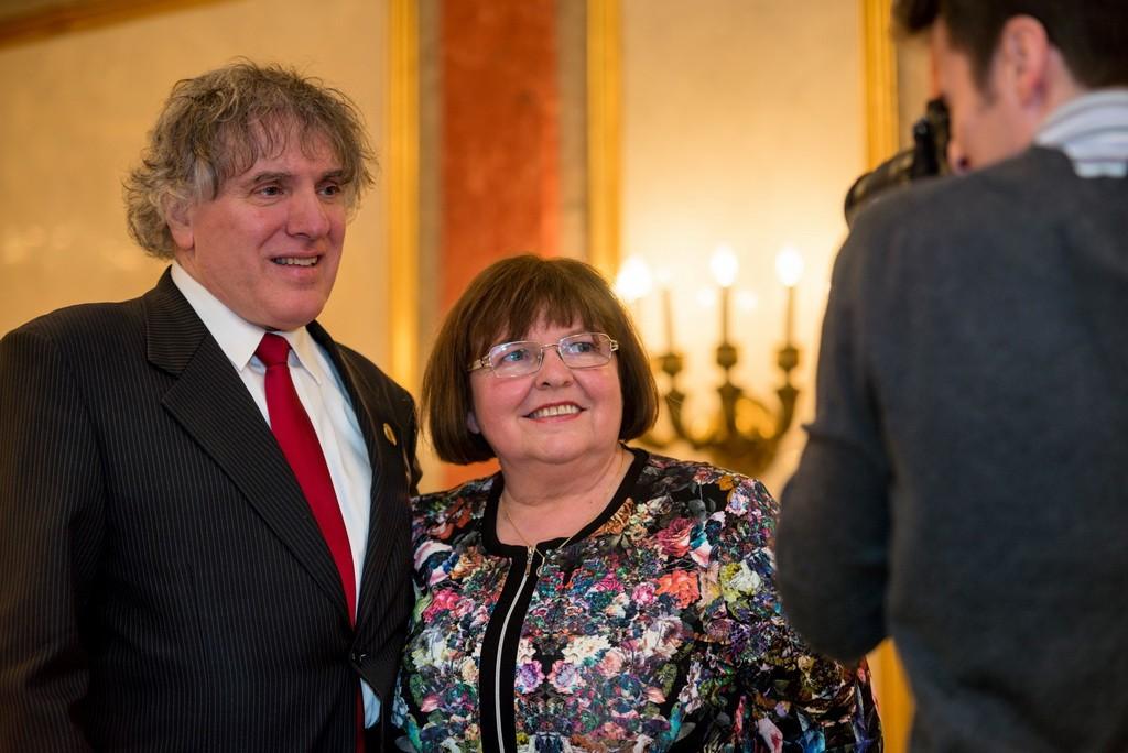 Az idén február 7. és 14. között zajló országos rendezvénysorozat házaspár arca Hegedűs Endre Kossuth- és Liszt-díjas zongoraművész és felesége, Hegedűs Katalin. Fotó: Juhász Melinda