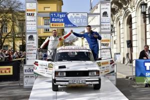 11.Eger Rally a Pirelli Kupáért. 2016.04.01-03. Szauer Gergő - Rácz László Lada 2015 - Topp-Autó 2010 Kft   Interjú Gergővel a verseny után.