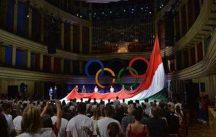 A magyar olimpiai csapat ünnepélyes fogadalomtétele Budapesten
