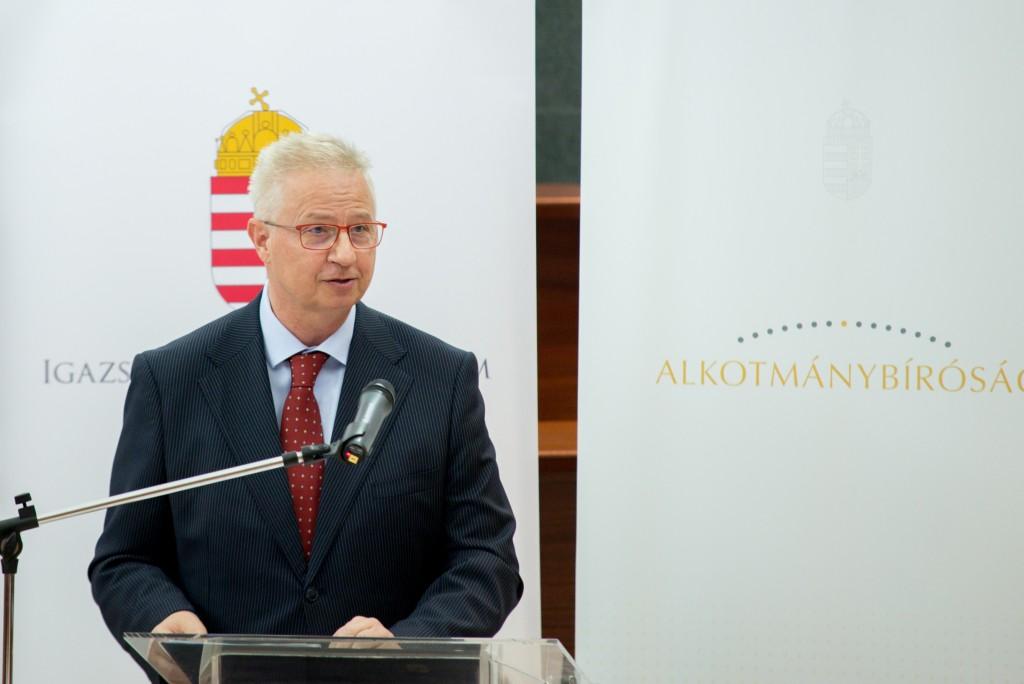 Trócsányi László igazságügyi miniszter  Fotó: Dóka Attila