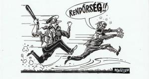A karikatúrát Dluhopolszky László rajzolta