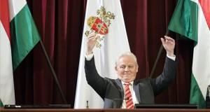 Tarlós István főpolgármester a Fővárosi Önkormányzat Közgyűlésén a Városháza dísztermében 2017. szeptember 27-én. MTI Fotó: Mohai Balázs