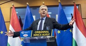 Gyurcsány Ferenc, a Demokratikus Koalíció (DK) elnöke 14. évértékelő beszédét tartja Budapesten 2018. január 27-én. MTI Fotó: Mohai Balázs