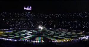 Fellépők a phjongcshangi téli olimpia záróünnepségén az olimpiai stadionban 2018. február 25-én. MTI Fotó: Czeglédi Zsolt