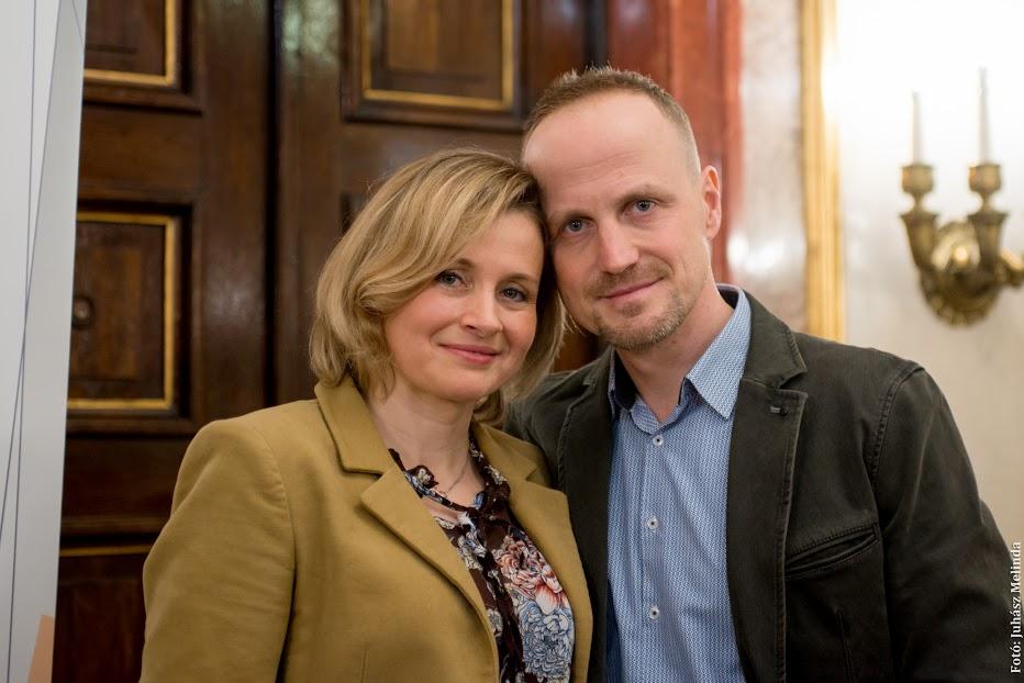 Zámbori Soma színművész és felesége, dr. Fazekas Rita Fotó: Juhász Melinda