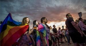 Közönség Conchita Wurst (Thomas Neuwirth) osztrák transzvesztita énekes koncertjén a 23. Budapest Pride fesztivál Rainbow Party elnevezésű záró rendezvényén a Budapest Parkban 2018. július 7-én. MTI Fotó: Balogh Zoltán