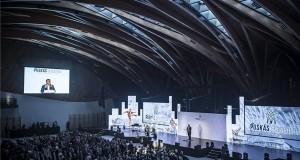 Orbán Viktor miniszterelnök beszédet mond a Puskás Akadémia Sport- és Konferenciaközpont átadó ünnepségén Felcsúton 2018. október 13-án. MTI Fotó: kormany.hu