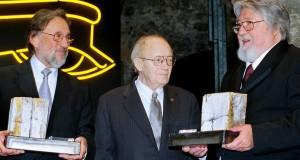 A fotón Zsigmond Vilmos, Illés György és Kovács László. Fotó: H.S.C.