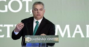 Orbán Viktor miniszterelnök beszédet mond a Magyar Kereskedelmi és Iparkamara gazdasági évnyitóján a budapesti New York Palace szállodában 2019. február 27-én. MTI/Koszticsák Szilárd