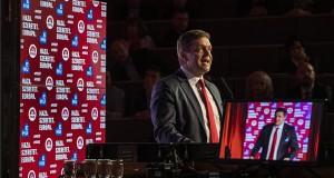 Tóth Bertalan, az MSZP elnöke beszédet mond az MSZP kongresszusán, ahol a párt európai parlamenti (EP-) listájáról és választási programjáról döntenek a Villányi úti Konferenciaközpontban 2019. február 16-án. MTI/Mónus Márton