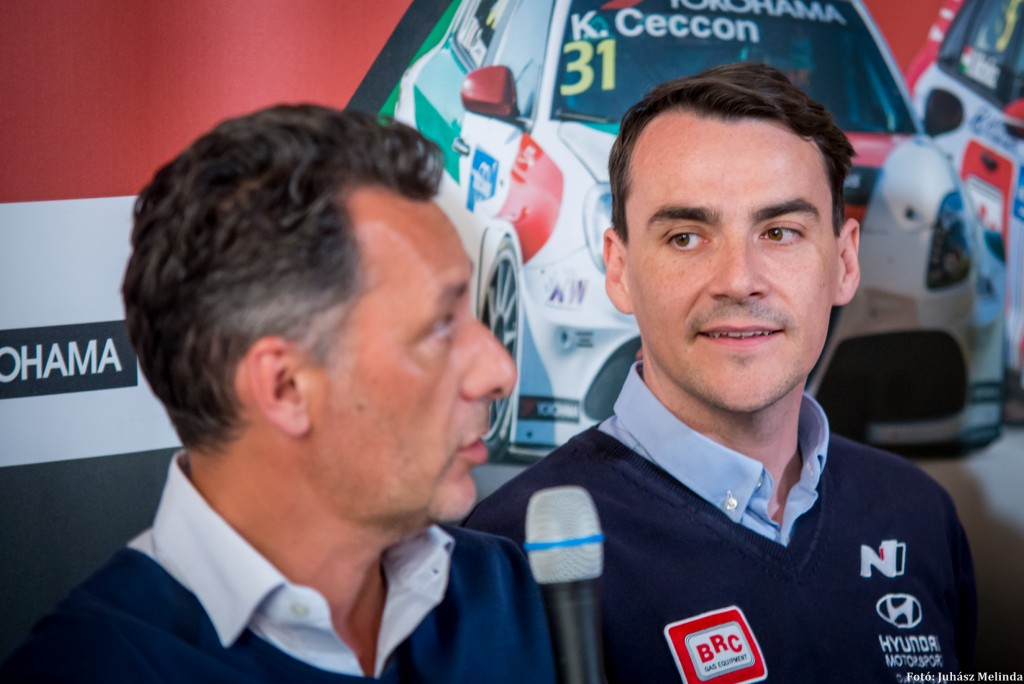 (b-j) Francois Ribeiro, a versenysorozat promótere és Michelisz Norbert (Hyundai) Fotó: Juhász Melinda