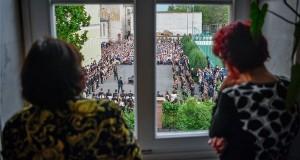 Ballagás a debreceni Fazekas Mihály Gimnáziumban 2019. május 3-án. MTI/Czeglédi Zsolt