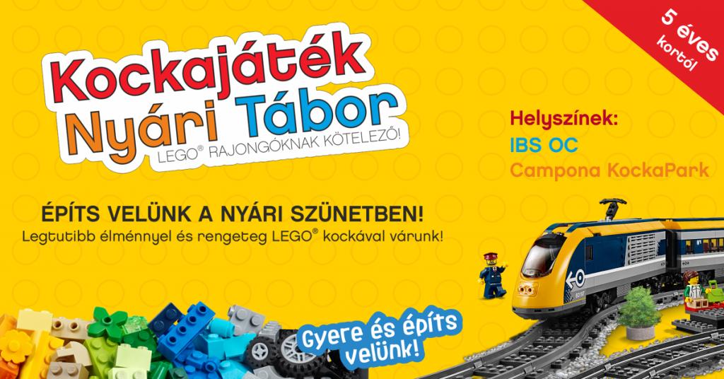 Kiváló szórakozás a nyári LEGO® tábor!