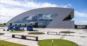 A ZalaZone Zalaegerszegi Járműipari Tesztpálya fogadóépülete az első ütem átadásának napján, 2019. május 20-án. MTI/Szigetváry Zsolt