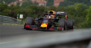 Max Verstappen, a Red Bull holland versenyzője a Forma-1-es Magyar Nagydíj első szabadedzésén a mogyoródi Hungaroringen 2019. augusztus 2-án. MTI/Balogh Zoltán