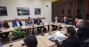 A Miniszterelnöki Sajtóiroda által közreadott képen Orbán Viktor miniszterelnök (b6) az operatív törzs ülésén a Belügyminisztériumban 2020. március 4-én. MTI/Miniszterelnöki Sajtóiroda/Benko Vivien Cher