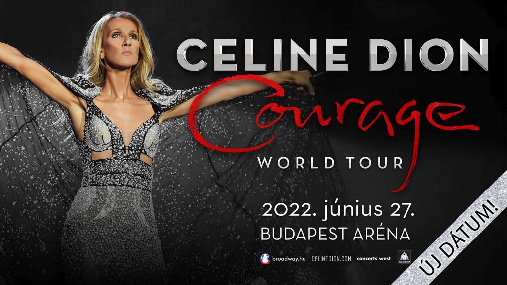 CelineDion_ CourageWorldTour_ujdatum_Budapest2022_plakat